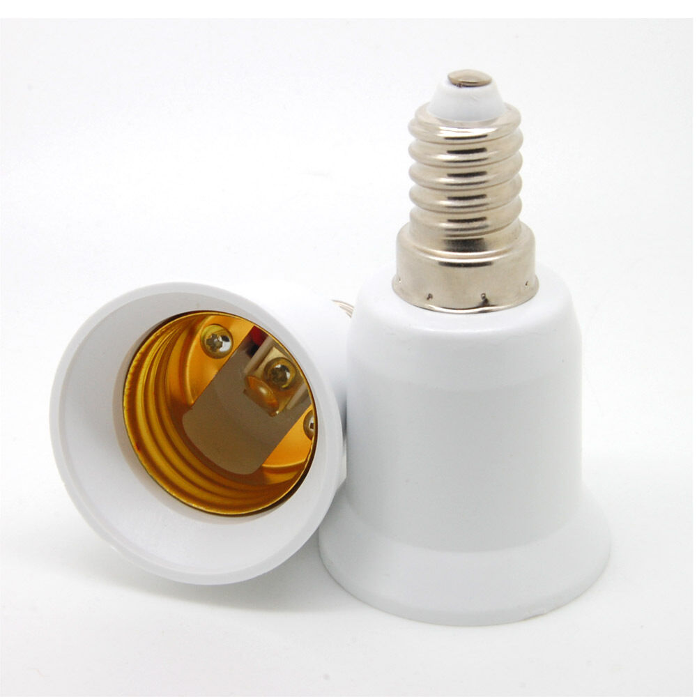 E 5pc e14 to e27 base screw led light lamp bulb holder adapter socket converter ebay Light bulb socket