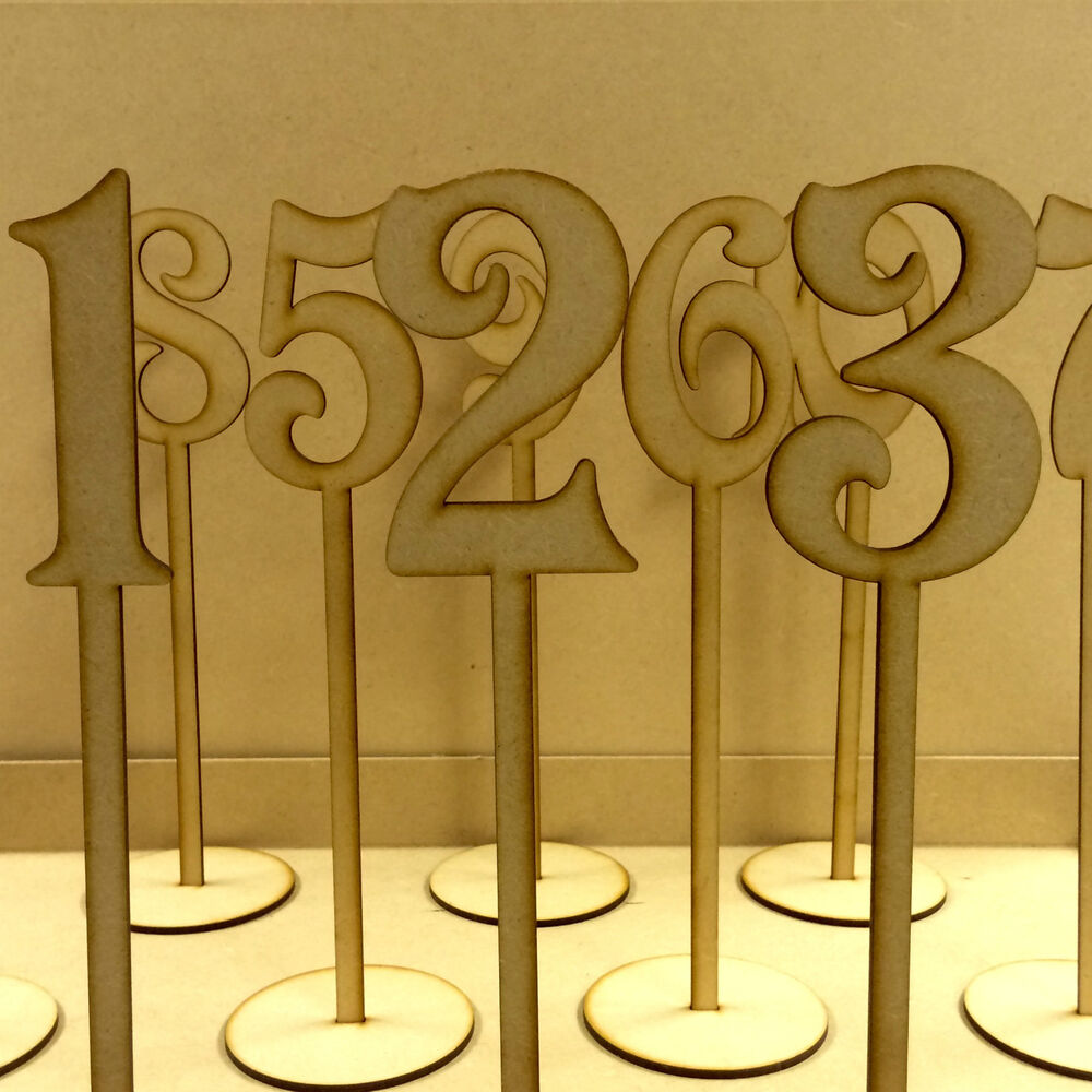Wooden Table Numbers ~ Freestanding wooden table numbers balloon weights