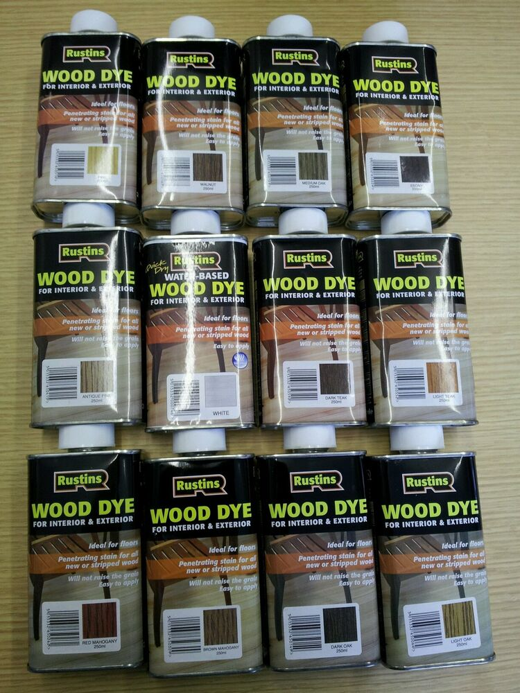 Rustins Wood Dye For Interior Exterior 250ml 12 Colours Including NEW W