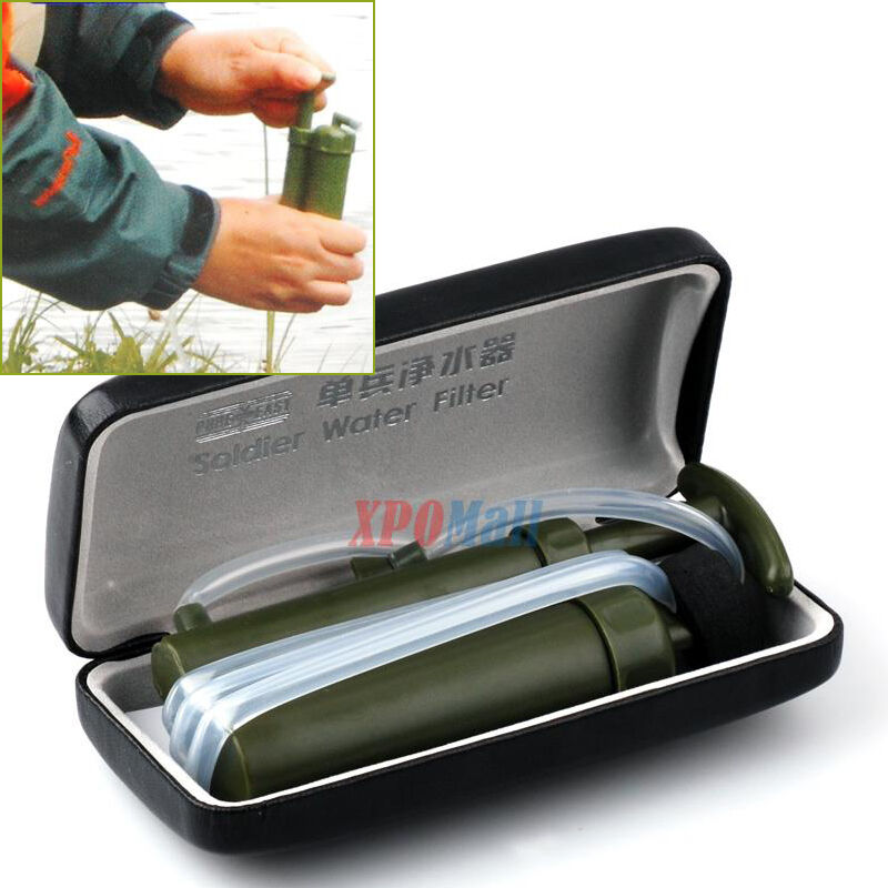 Portable Army Soldier Water Filter Purifier Hiking Camping ...