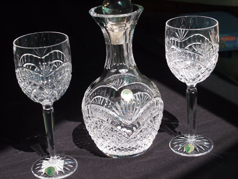 Exquisite Waterford Hand-cut Crystal Decanter and Wine ...