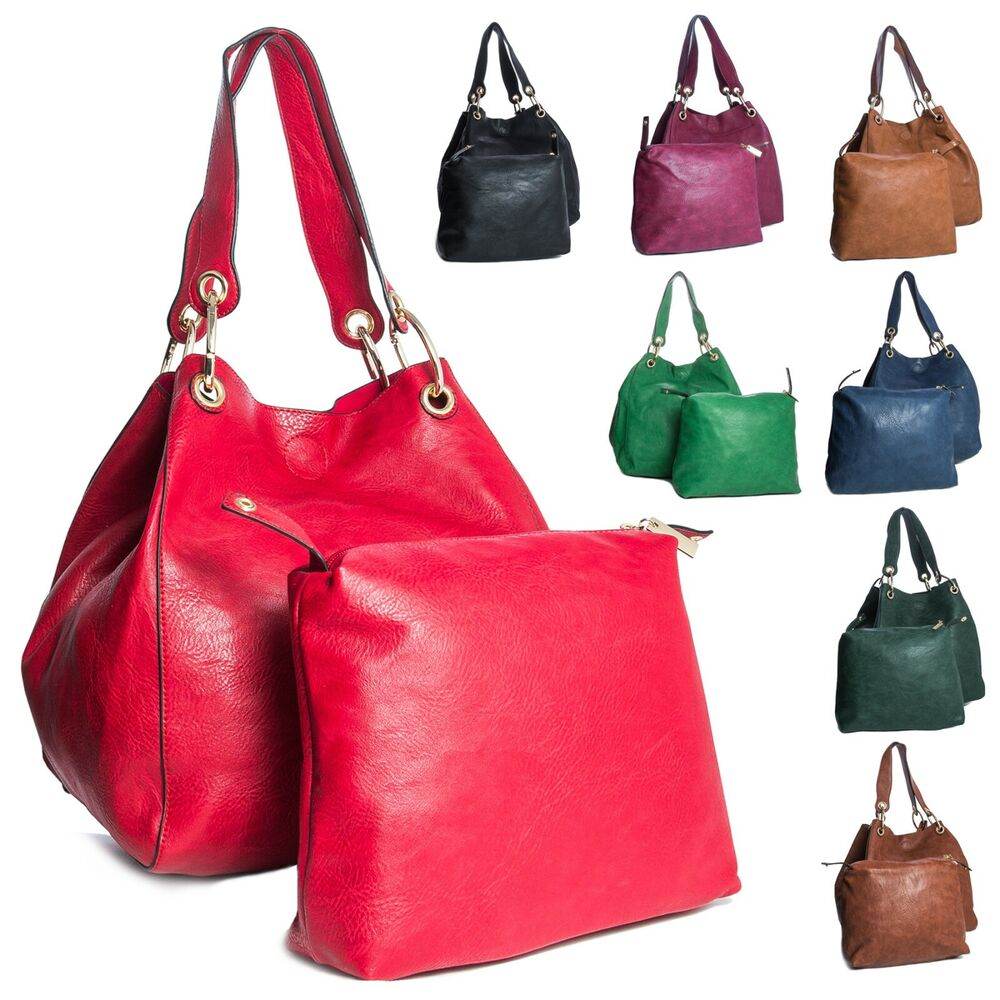 Big Handbag Shop Two in One Womens Bucket Style Large ...