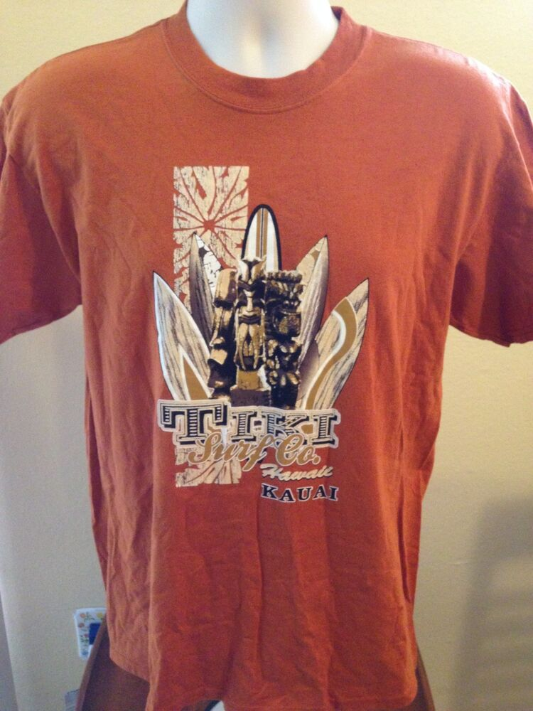 vintage tiki surf company kauai hawaii t shirt medium ebay