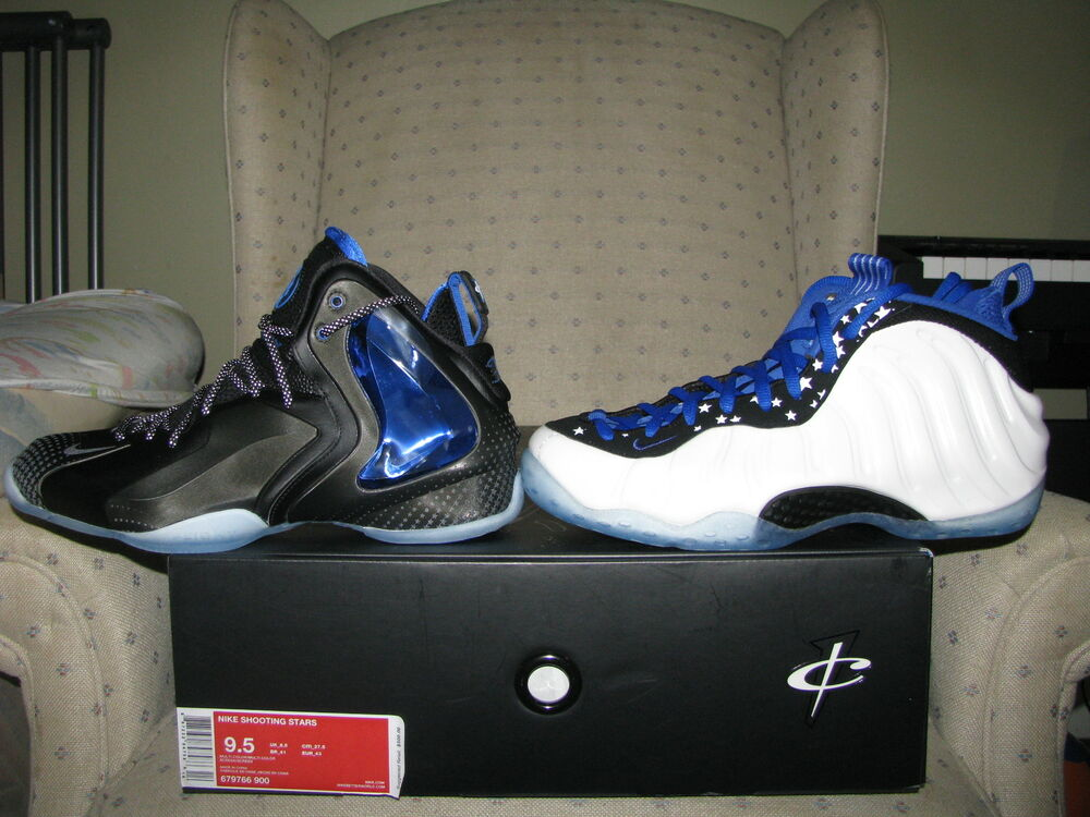 Nike air foamposite shooting star penny all star mirror for Fish shoes nike