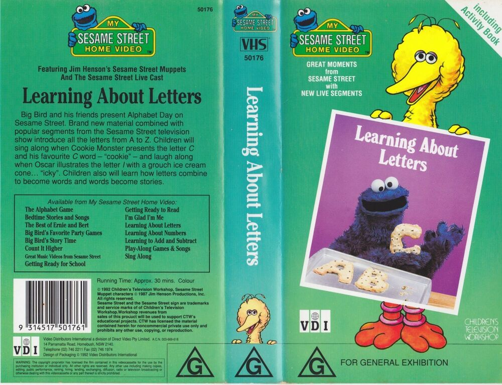 sesame street learning about letters vhs sesame learning about letters vhs pal a 10883
