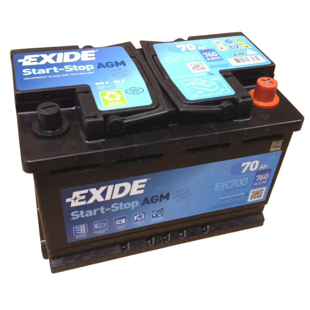exide agm start stopp batterie ek700 neuestes model 2014 15 en a 760 12v 70ah ebay. Black Bedroom Furniture Sets. Home Design Ideas