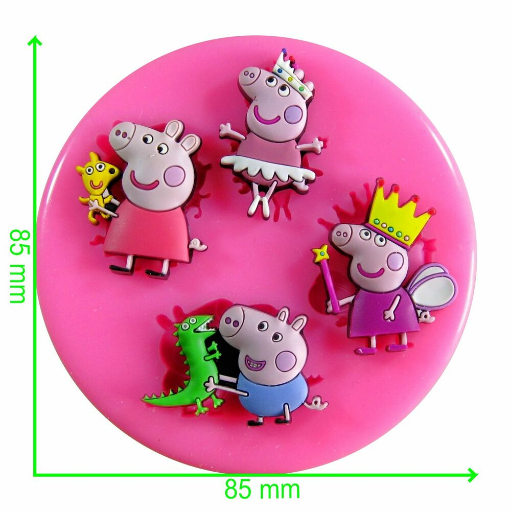 Peppa Pig Fairy Princess Silicone Mould By Fairie