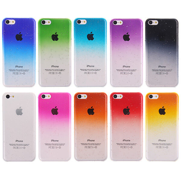 3d cases for iphone 5c ultra thin 3d waterdrop raindrop back cover for 8574