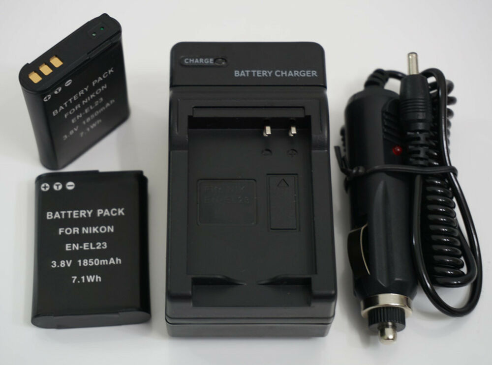 Battery 2 Pack Charger For Nikon Coolpix P600 P610