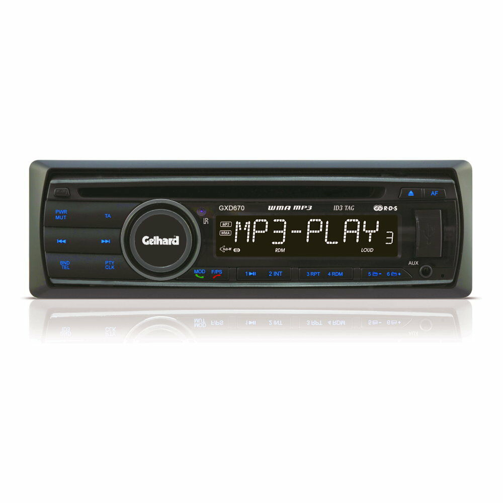 autoradio gelhard gxd670 cd mp3 wma usb sd rds bluetooth 4x60 watt ebay. Black Bedroom Furniture Sets. Home Design Ideas