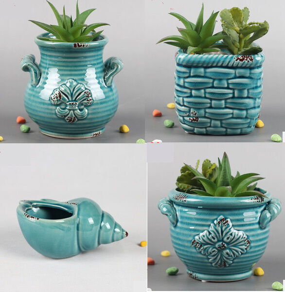 indoor plant pots 4pcs ceramic planter plant pot indoor outdoor succulent 12163