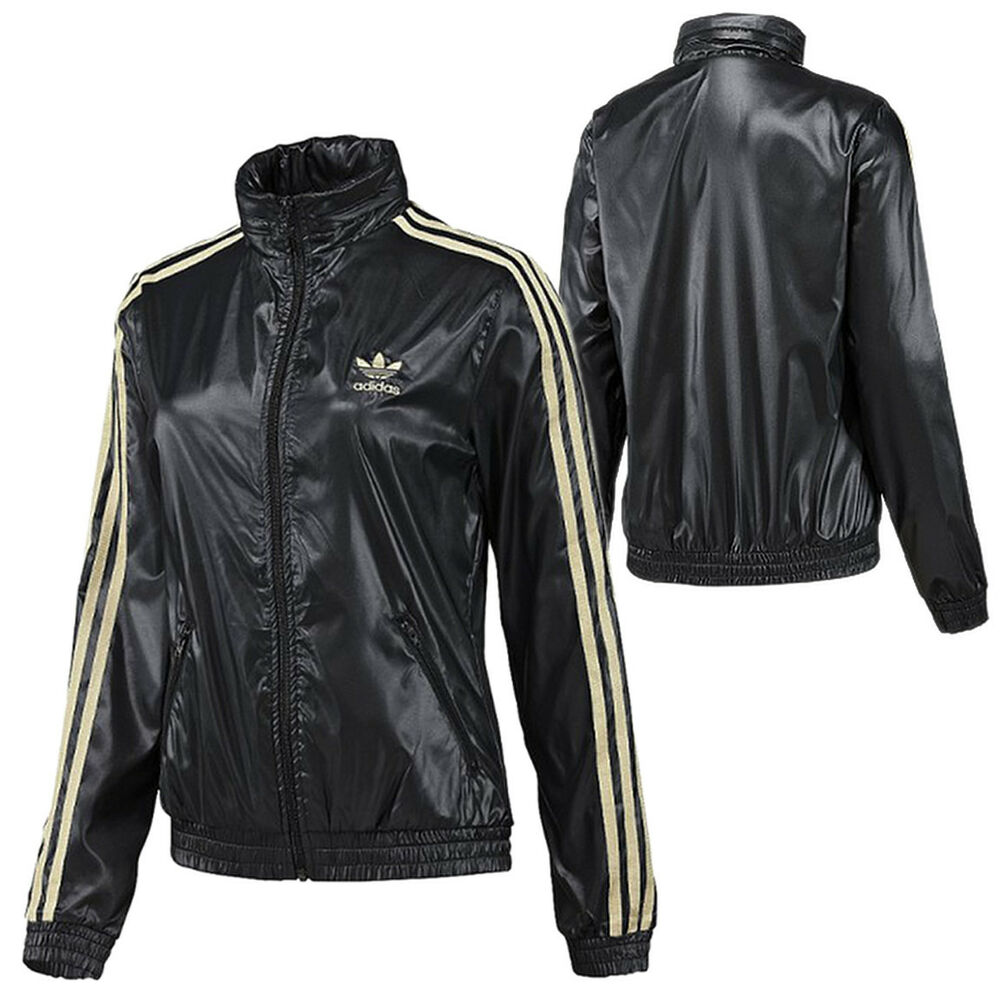 adidas originals damen colorado windbreaker jacke cr schwarz gold ebay. Black Bedroom Furniture Sets. Home Design Ideas