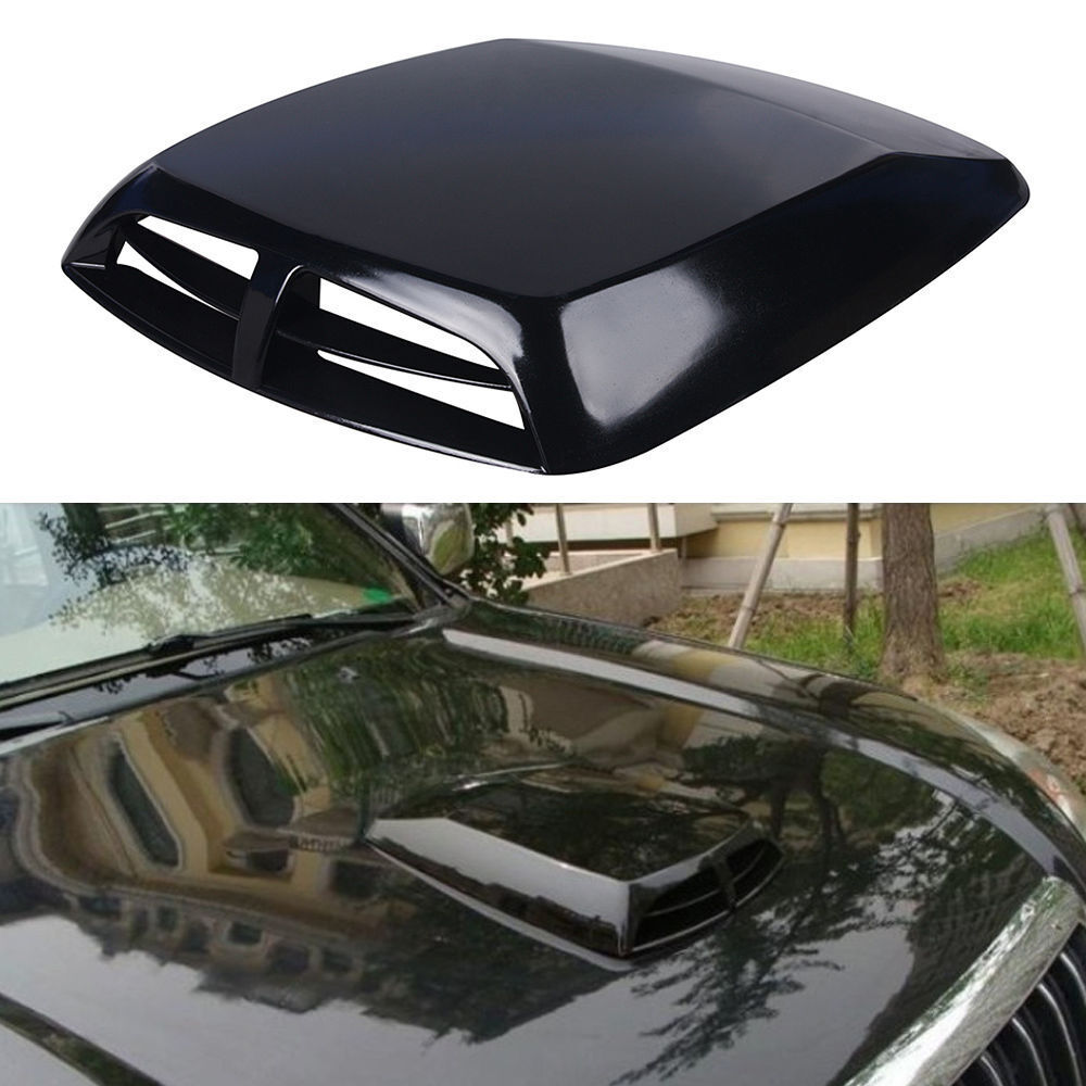 Induction Air Cleaner Hood : Car decorative air flow intake hood scoop cover universal
