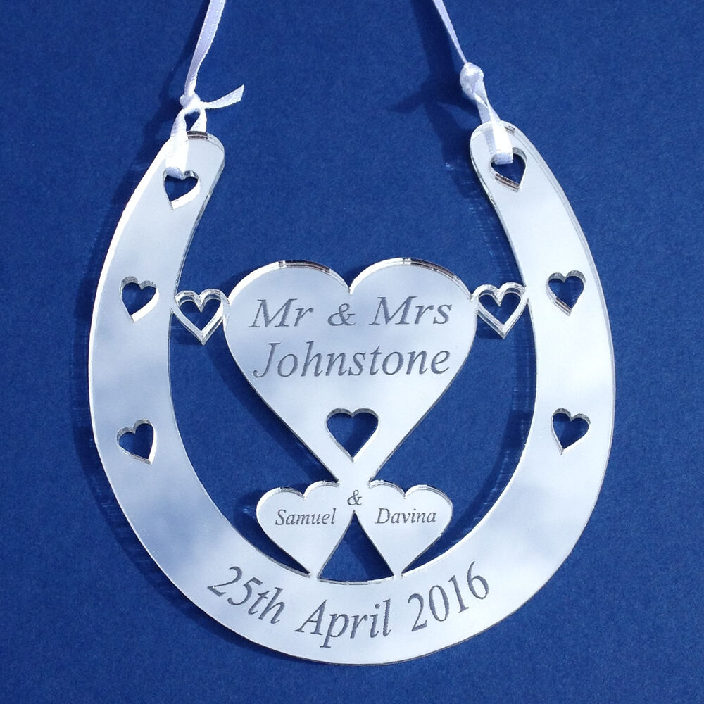 Personalised Wedding Good Luck Gifts : Personalised Mini Bridal Good Luck Horseshoe Gift Lucky Wedding ...