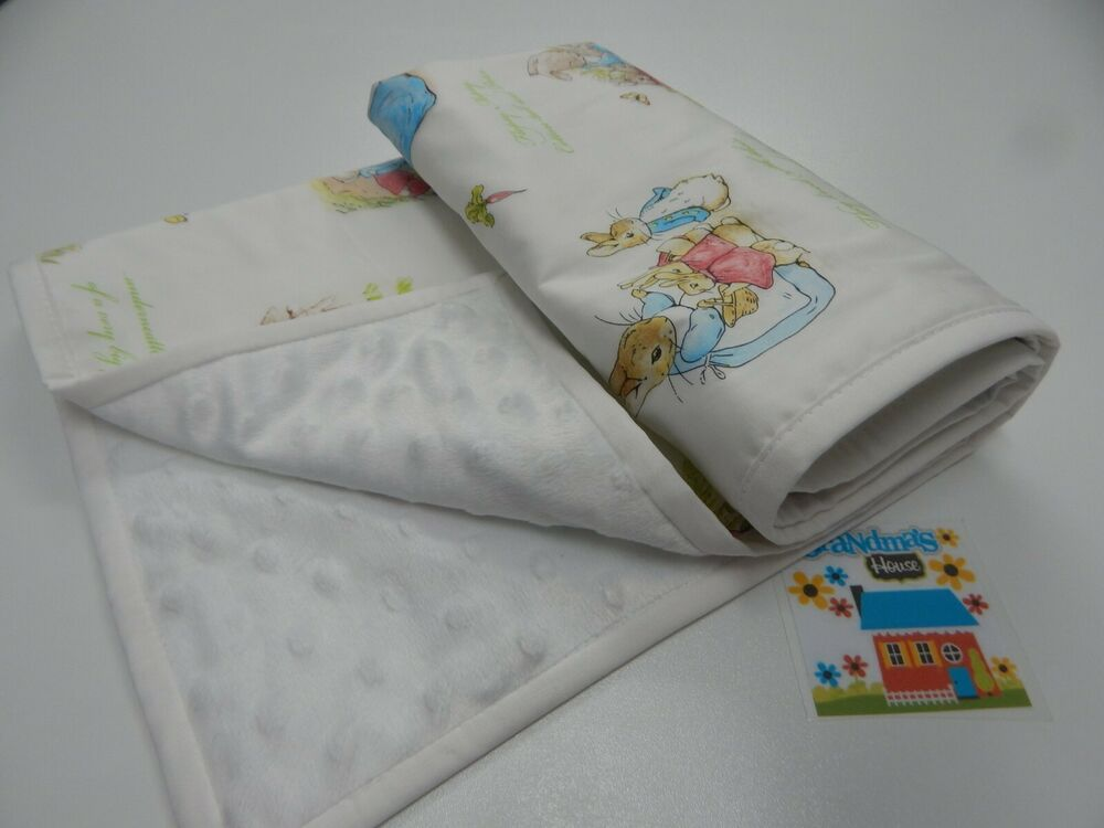 Peter Rabbit Baby Blanket Beatrix Potter Bassinet Pram