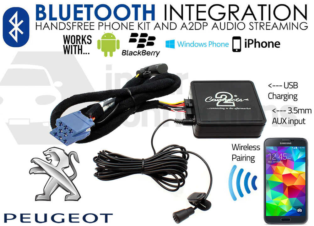 Peugeot 307 Bluetooth Music Streaming Handsfree Car Kit