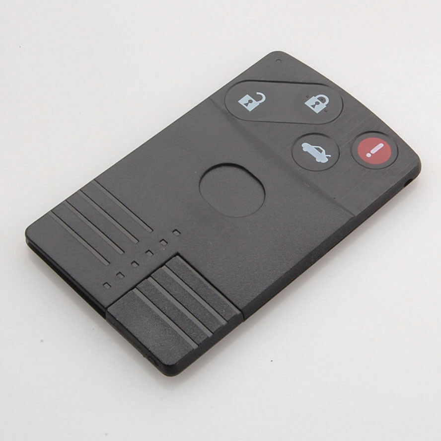 Abs Smart Remote Key Case Ring Shell Holder Cover For: Uncut Keyless Smart Card Remote Key Fob Shell Case Cover