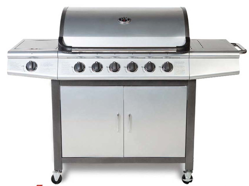 cosmogrill 6 1 deluxe gas bbq silver barbecue grill inc side burner model 93417 ebay. Black Bedroom Furniture Sets. Home Design Ideas