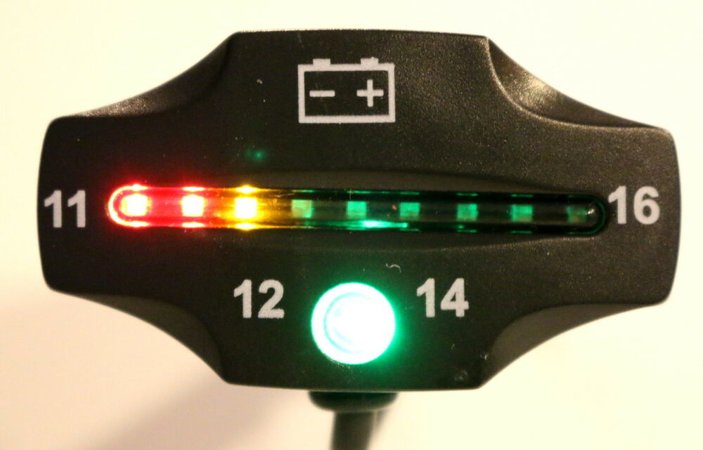 Battery And Charging System Monitor : Led battery voltage indicator meter auto motorcycle atv
