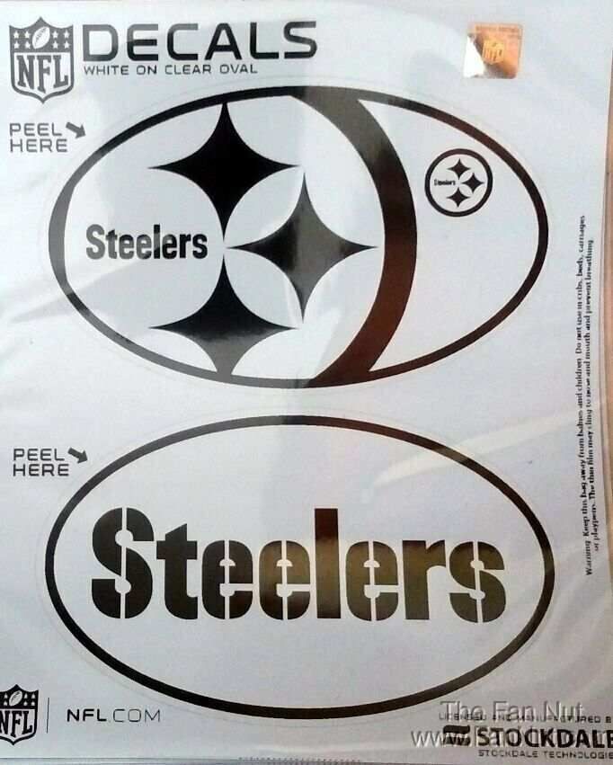 Pittsburgh Steelers 2 Pack Euro Style Oval Home Auto