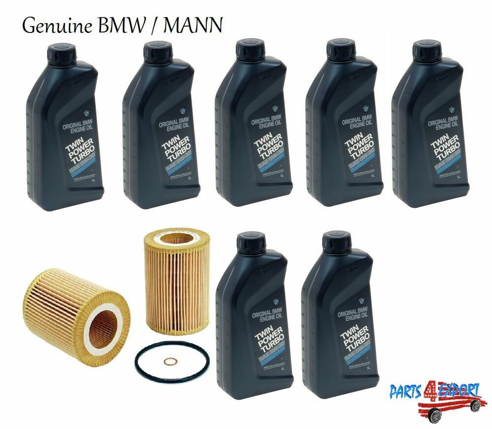 New 7 quarts genuine bmw synthetic 5w30 motor oil 1 mann for Motor oil for bmw