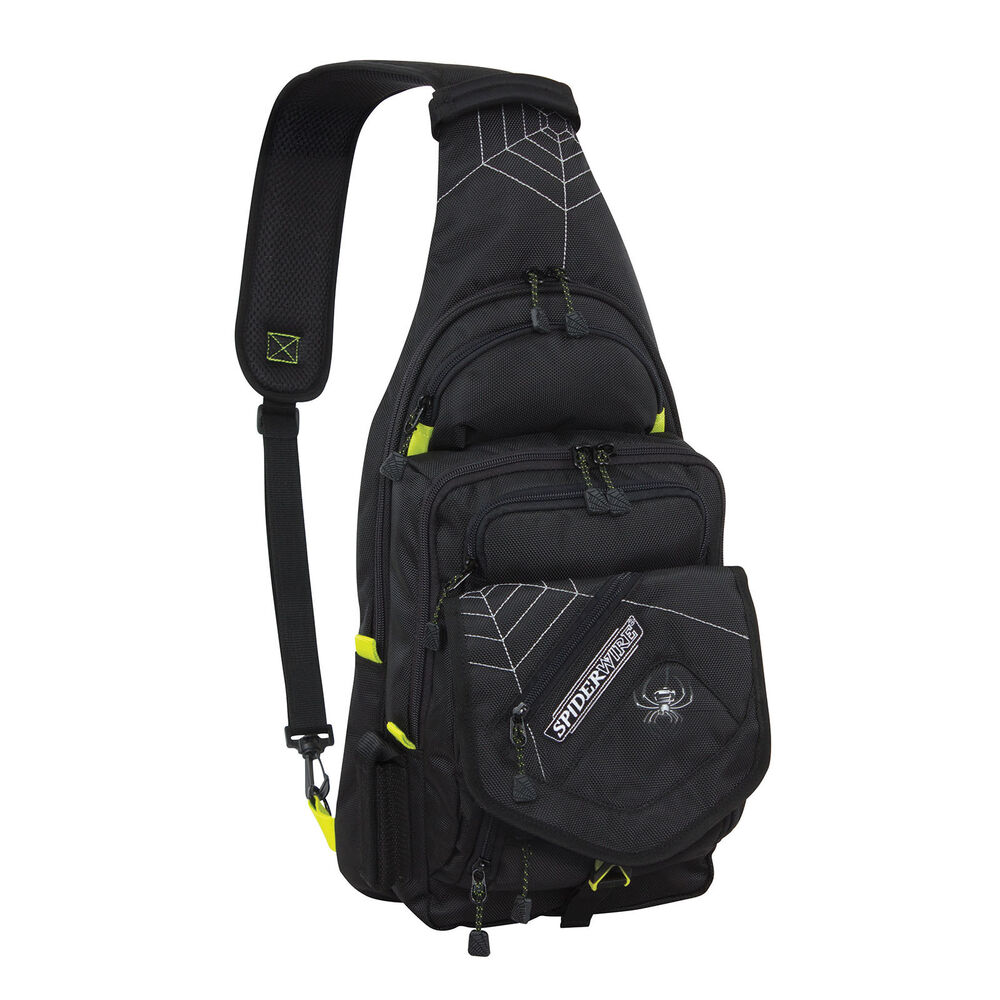 spiderwire black sling tackle bag 1 medium utility box
