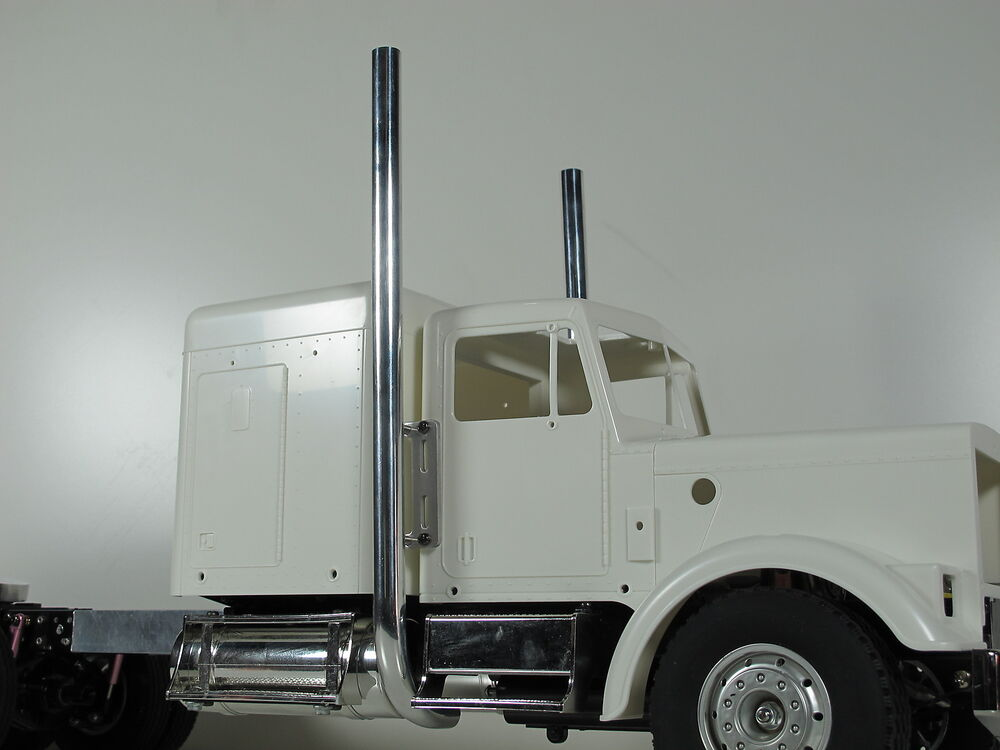 Semi Truck That S Also A Toy Car Holder : Pair new exhaust pipe stack w mount bracket tamiya