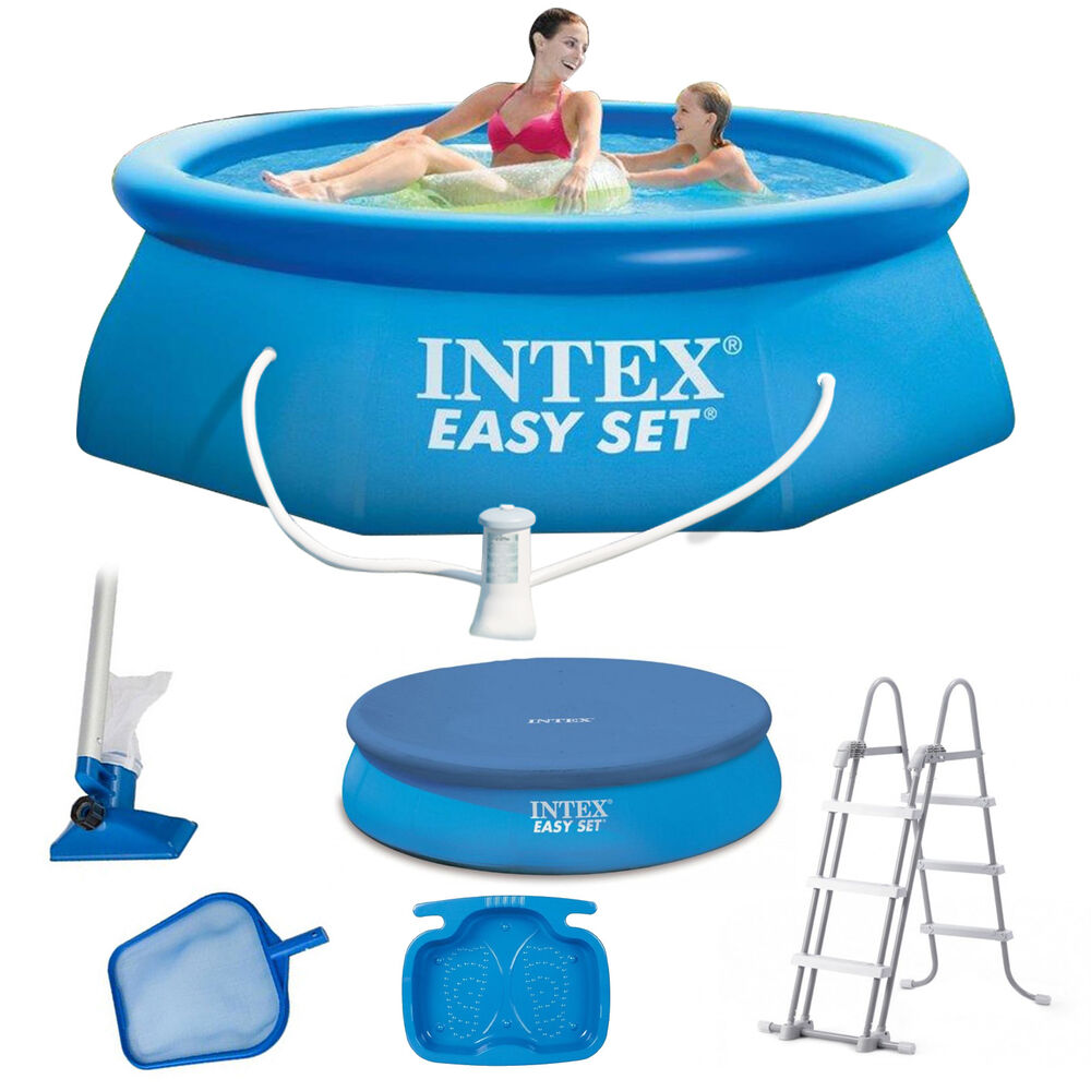 intex easy set swimming pool schwimmbecken quick up schwimmbad 183 cm 396 cm ebay. Black Bedroom Furniture Sets. Home Design Ideas