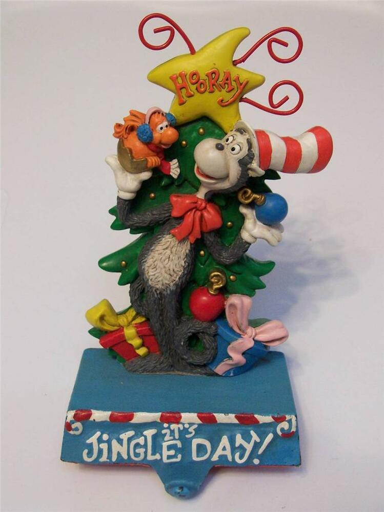 Midwest Dr Seuss Cat in The Hat Cast Iron Christmas Stocking Holder ...