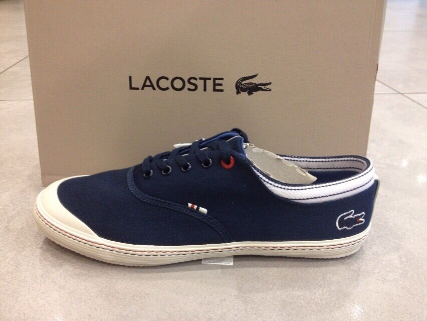 LACOSTE Mens Shoes Trainers Sneakers MANVILLE TENNIS AP DARK BLUE - New In  Box | eBay