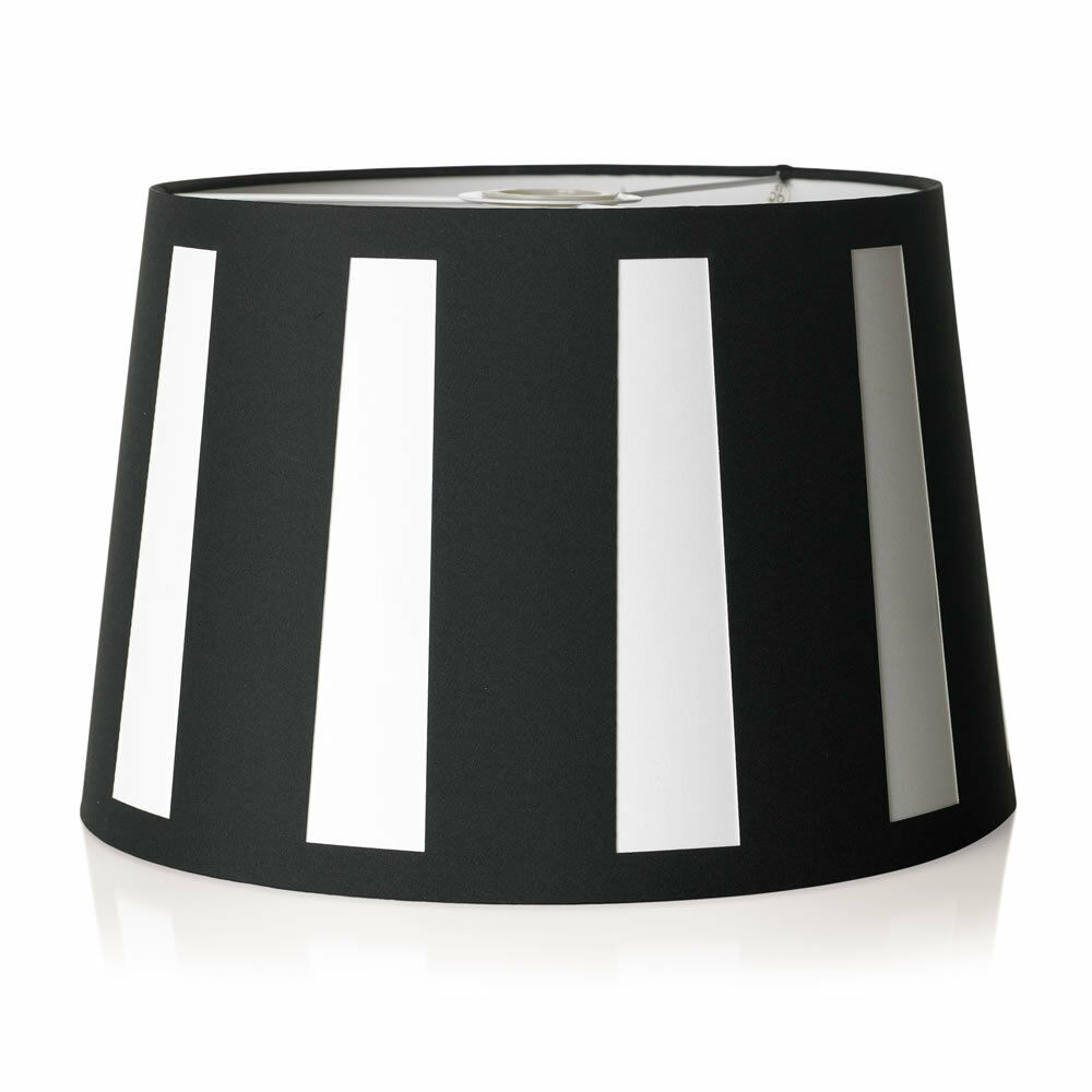 stunning stripey light shade light pendant lampshade black. Black Bedroom Furniture Sets. Home Design Ideas