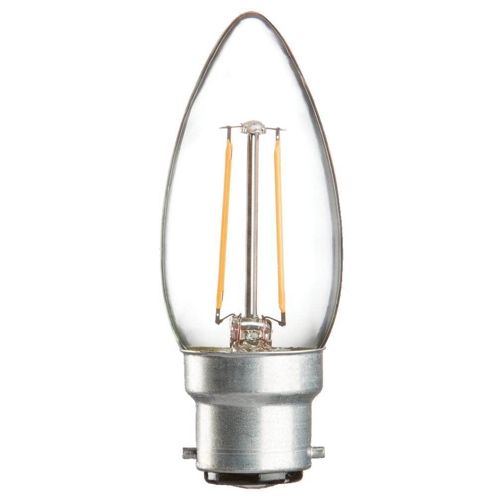 B22 B15 Led Filament Style Candle Bulbs 2w Or 4w Bc Sbc Clear Opal 2yr Warranty Ebay