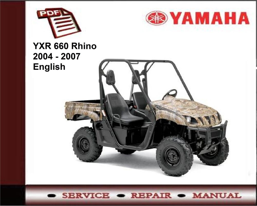 yamaha yxr 660 rhino 2004 2007 service repair workshop. Black Bedroom Furniture Sets. Home Design Ideas