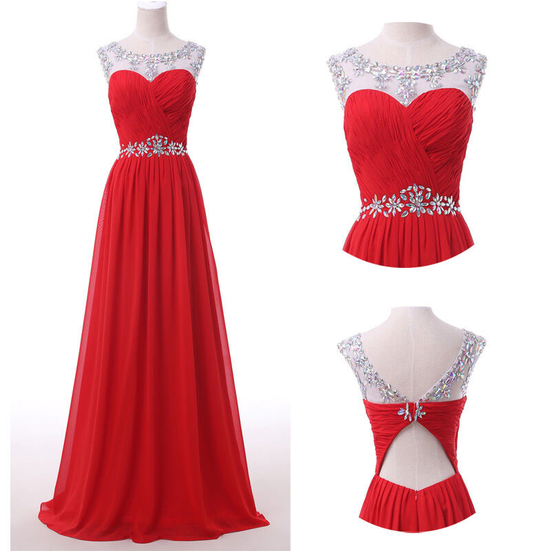 Sale cheap long prom dress evening gown ball party for Cheap wedding dresses ebay