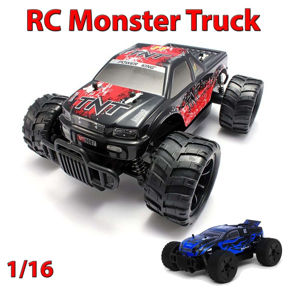 rc ferngesteuerter monster truck auto fahrzeug buggy modellbau massstab 1 16 ebay. Black Bedroom Furniture Sets. Home Design Ideas