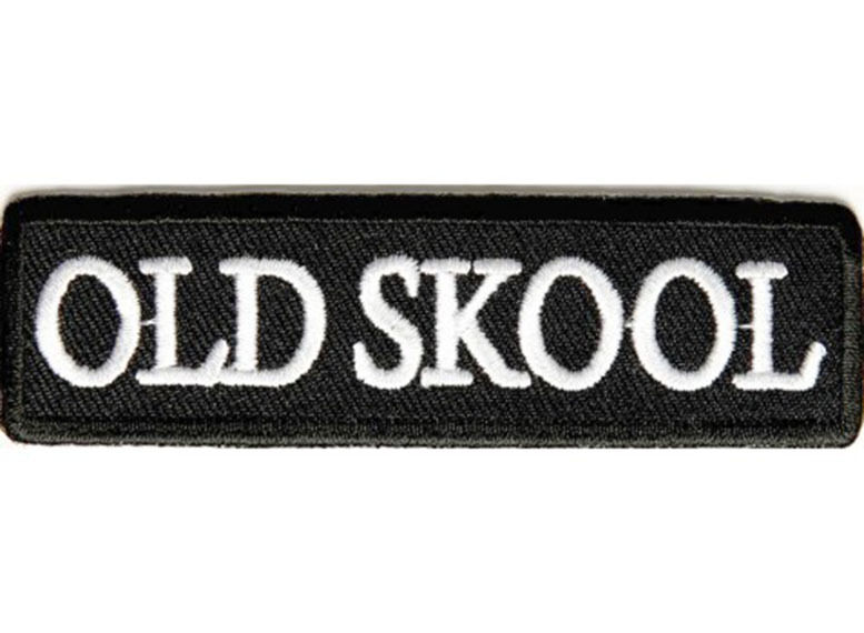 Old skool school embroidered jacket vest patch funny biker