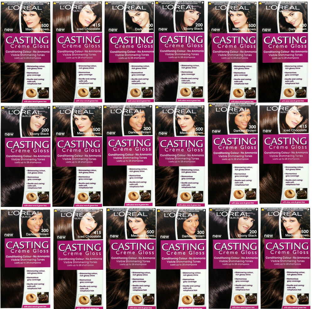 loreal casting creme gloss hair colour dye shades no ammonia black brown more ebay - L Oral Gloss Color