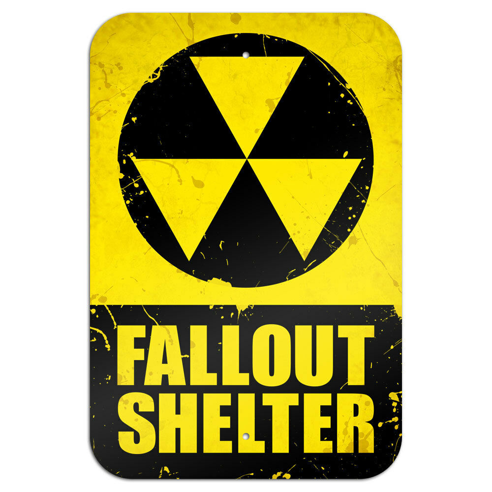 Fallout Shelter Novelty Metal Sign 6 Quot X 9 Quot Ebay