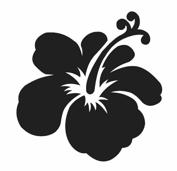 hibiscus flower 1 stencil for signs fabric canvas walls