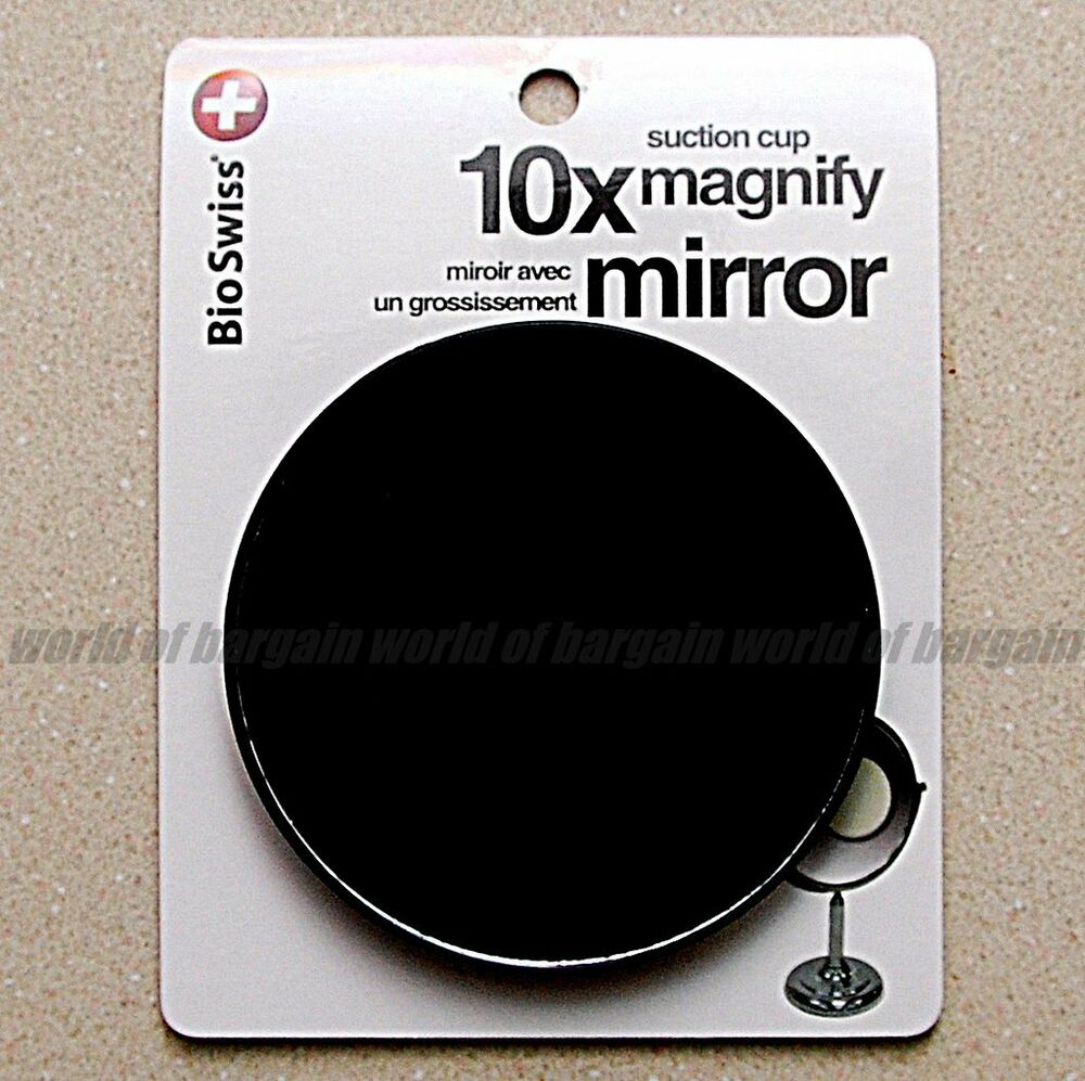 3 5 quot inch 10x power magnifying mirror suction cups makeup 20738