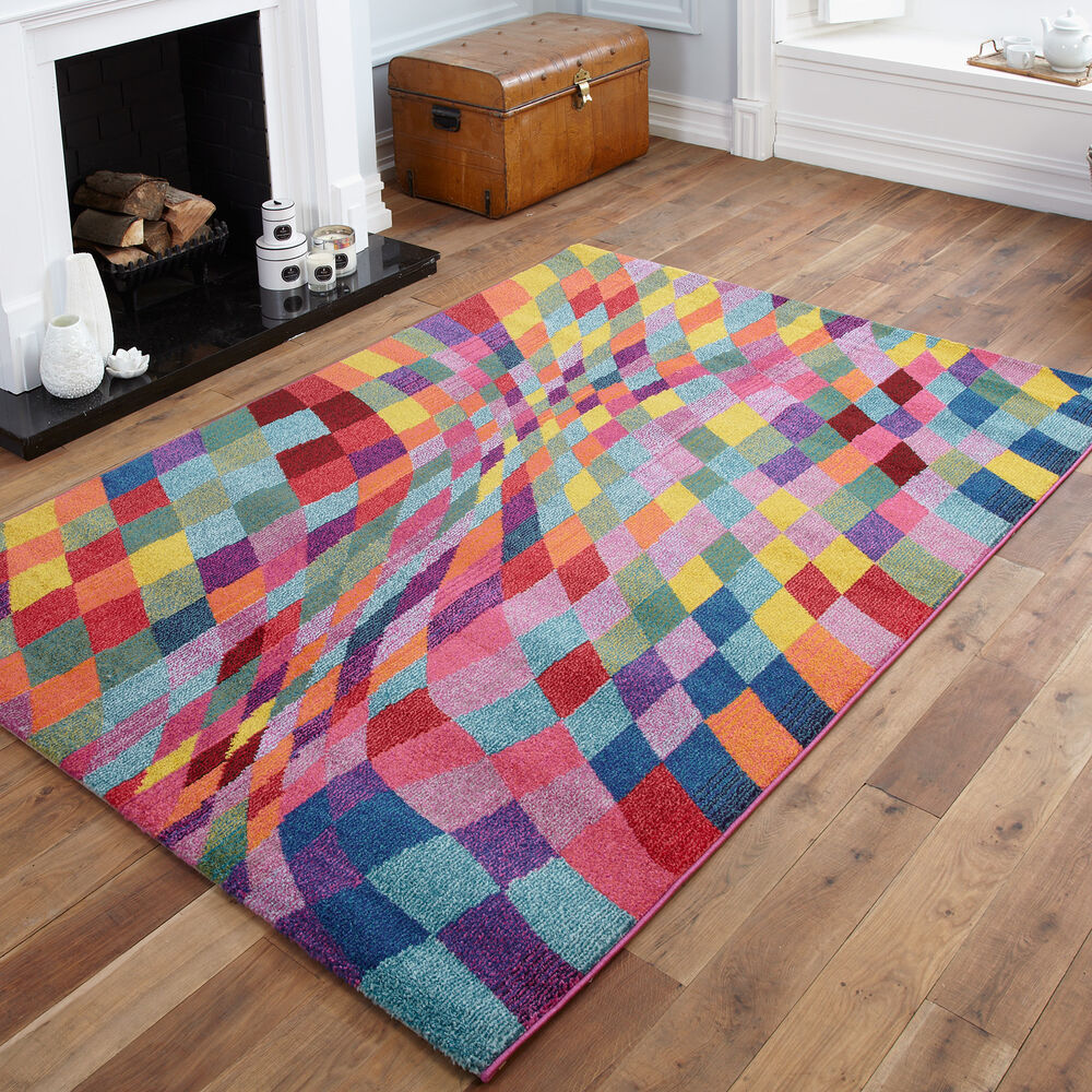 High quality small to large modern rugs blocks pixel for Cheap good quality rugs
