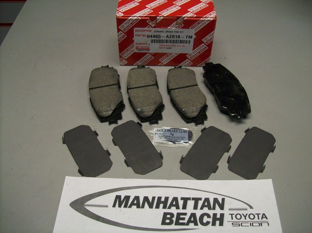 06 12 Rav4 4cyl W O 3rd Row Seat Front Brake Pads Toyota
