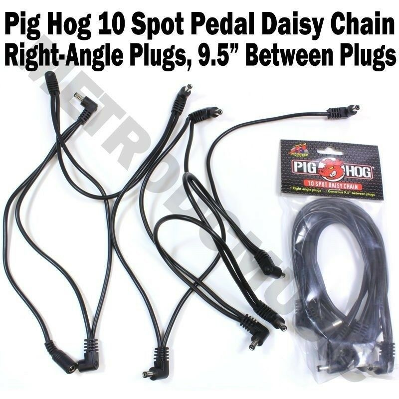Pig Hog 10 Spot Plug Daisy Chain Power Cable Effect Pedal