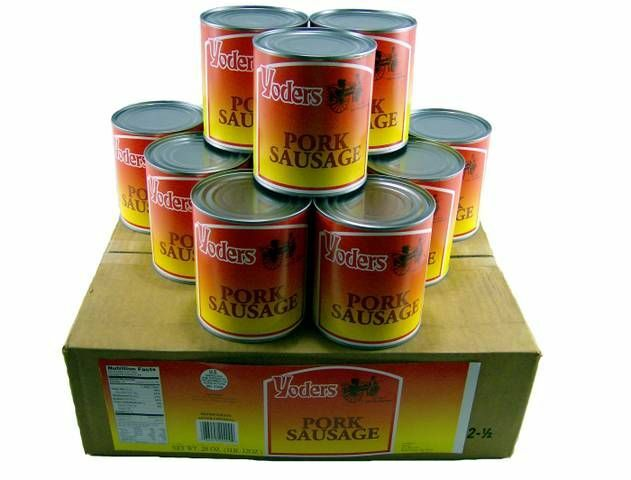 Yoders Canned Pork Sausage Case Of 12 Canned Meat Food