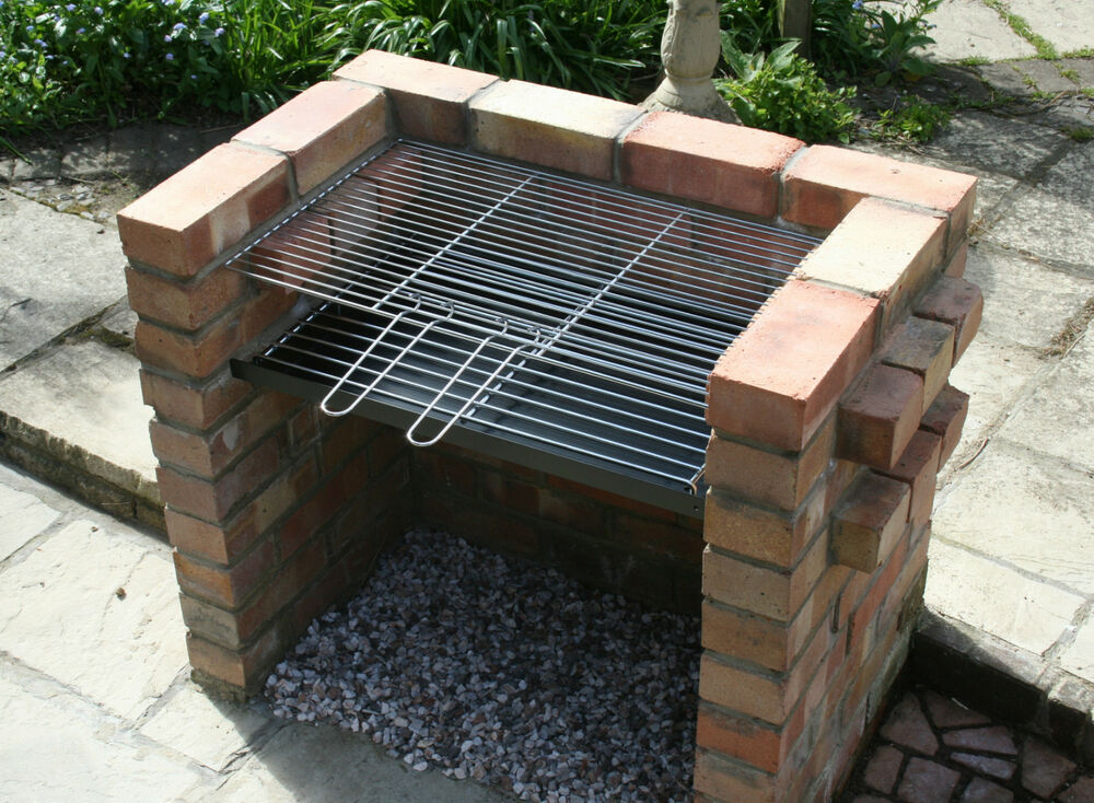 Diy brick charcoal bbq barbecue 7mm thick grate for Diy brick projects