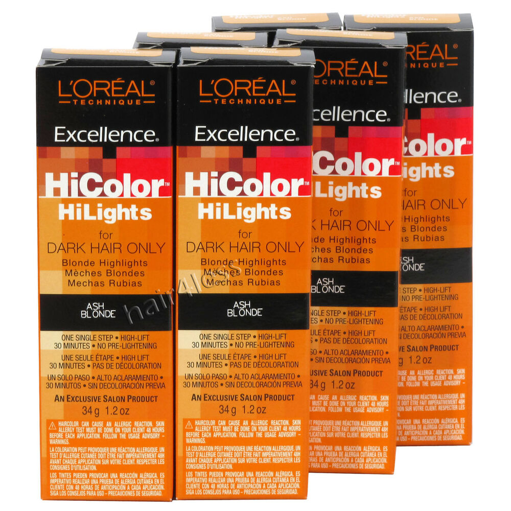 pack of 6 loreal excellence hicolor hilights creme