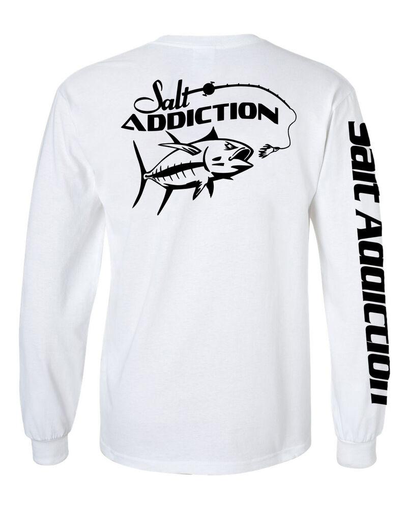 salt addiction long sleeve saltwater fishing t shirt fish