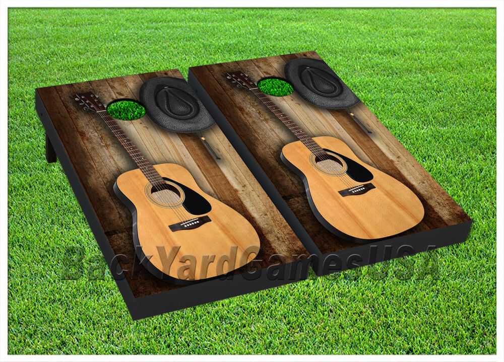 Vinyl Wraps Cornhole Boards Decals Country Music Guitar