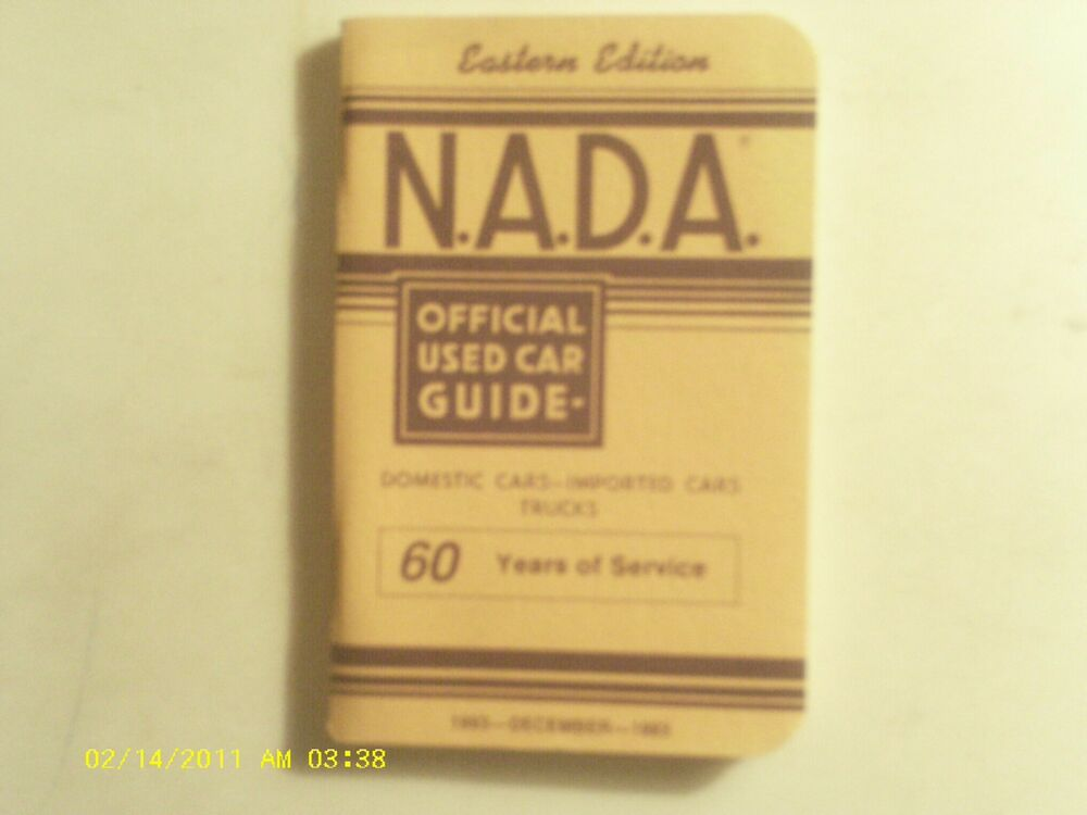 Nada Used Car Guide >> NADA Official Used Car Guide December 1993 Eastern Edition GC | eBay