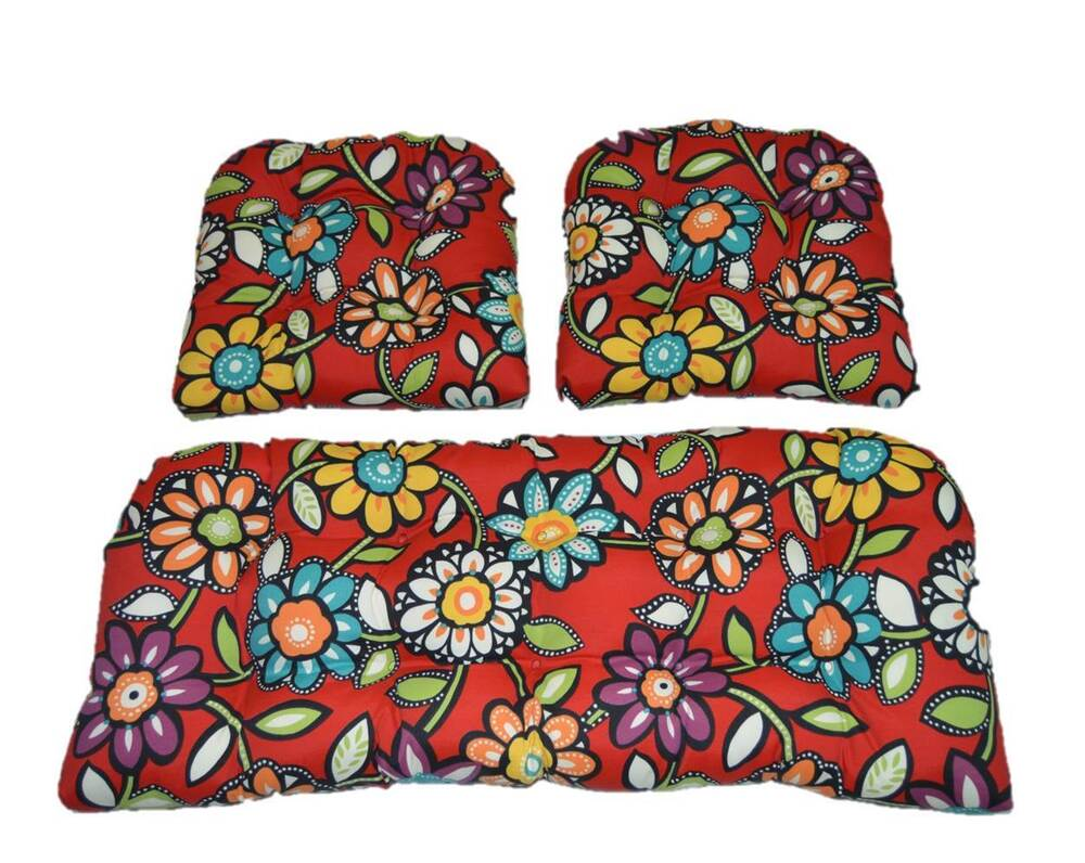 Set of 4 Outdoor Patio Seat Cushions Pads 16